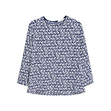 Buy Mango Floral Printed Blouse, Natural White Online at johnlewis.com