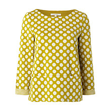 Buy White Stuff Sheri Spot Top, Yellow Online at johnlewis.com