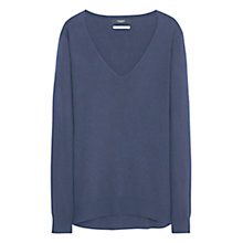 Buy Mango V-Neck Cashmere-Blend Jumper Online at johnlewis.com