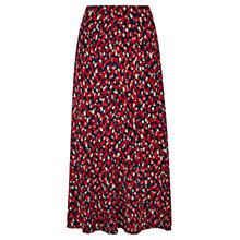 Buy Viyella Animal Print Jersey Skirt, Red Online at johnlewis.com
