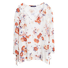 Buy Violeta by Mango Floral Print Blouse, Orange Online at johnlewis.com