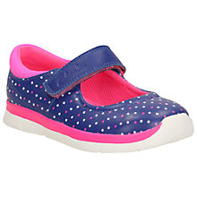 Buy Clarks Children's Ath Shine Rip-Tape First Shoes, Purple Online at johnlewis.com