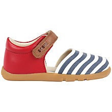 Buy Bobux Children's Twist Closed Back Sandals, Red/White/Navy Online at johnlewis.com