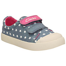 Buy Clarks Children's Halcy Hana Rip-Tape Shoes Online at johnlewis.com