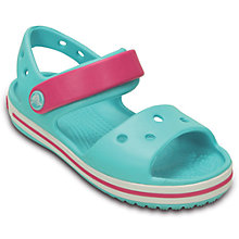 Buy Crocs Children's Crocband Sandals, Blue/Pink Online at johnlewis.com