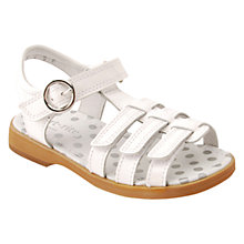 Buy Start-rite Children's Summer Shimmer Leather Rip-Tape Sandals, White Patent Online at johnlewis.com