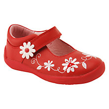 Buy Start-rite Children's Super Soft Honey Bee Leather Rip-Tape Shoes, Red Online at johnlewis.com