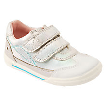 Buy Start-rite Children's Flexy Soft Turin Rip-Tape Walking Shoes, Iridescent Silver Online at johnlewis.com
