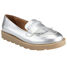 Buy John Lewis Children's Maddy Platform Loafers, Silver Online at johnlewis.com