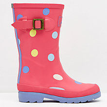 Buy Little Joule Candy Wellington Boots, Neon Pink Online at johnlewis.com