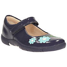 Buy Clarks Children's Binnie Jam Rip-Tape Shoes, Blue Online at johnlewis.com