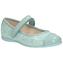 Buy Clarks Dance Idol Glitter Shoes, Blue Online at johnlewis.com