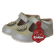 Buy Kickers Children's Baby Kick Hi Boots, Silver Online at johnlewis.com