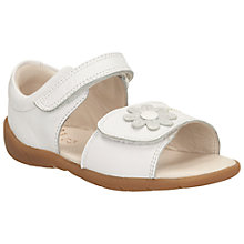 Buy Clarks Children's Softly Eve Rip-Tape Sandals, White Online at johnlewis.com