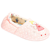 Buy John Lewis Fairy Closed Back Slippers, Pink Online at johnlewis.com