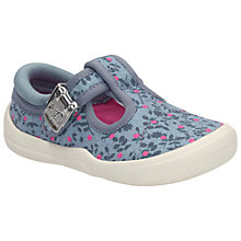 Buy Clarks Children's Briley Bow Canvas Shoes, Denim Online at johnlewis.com