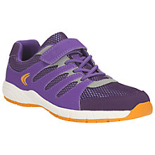 Buy Clarks Children's Cross Dart Sports Shoes, Purple Online at johnlewis.com