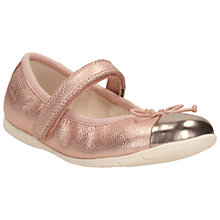 Buy Clarks Children's Dance Rosa Ballet Pumps, Rose Gold Online at johnlewis.com
