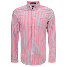 Buy Gant Shadow Stripe Poplin Shirt, Lipstick Pink Online at johnlewis.com