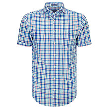 Buy Gant Albatross Cotton Linen Shirt, Sharp Blue Online at johnlewis.com