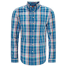 Buy Gant Birdie Madras Check Shirt, Sharp Blue Online at johnlewis.com