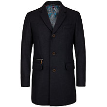 Buy Ted Baker Alamo Textured Wool Overcoat Online at johnlewis.com