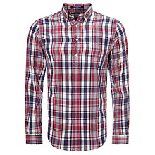 Buy Gant Skipper Madras Check Shirt, Persian Blue Online at johnlewis.com