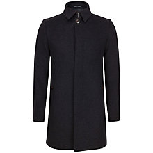 Buy Ted Baker Valamy Overcoat, Charcoal Online at johnlewis.com