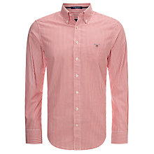 Buy Gant Regular Fit Poplin Banker Stripe Shirt Online at johnlewis.com