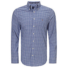 Buy Gant Regular Fit Poplin Gingham Shirt, Yale Blue Online at johnlewis.com