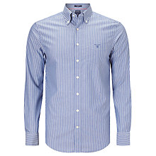 Buy Gant Breton Poplin Stripe Shirt, Yale Blue Online at johnlewis.com
