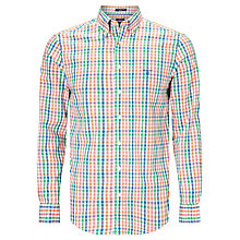 Buy Gant Colour Check Oxford Shirt, Multi Online at johnlewis.com
