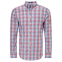 Buy Gant Colour Check Oxford Shirt, Hampton Blue/Red/White Online at johnlewis.com