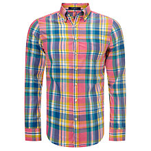 Buy Gant Birdie Madras Check Shirt, Multi Online at johnlewis.com