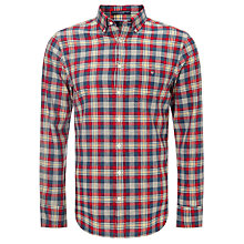 Buy Gant Spinnaker Poplin Shirt, Red/Blue/Cream Online at johnlewis.com