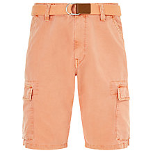 Buy Gant Loose Belted Cargo Shorts, Dusty Apricot Online at johnlewis.com