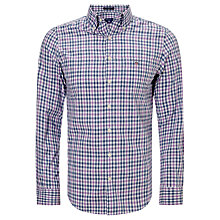 Buy Gant Backspin Poplin Check Shirt, Pale Pansy Online at johnlewis.com