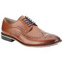 Buy Clarks Gatley Limit Leather Brogue Derby Shoes, Tan Online at johnlewis.com