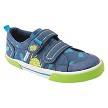 Buy Start-rite Children's Big Bug Rip-Tape Canvas Shoes, Navy Multi Online at johnlewis.com
