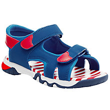 Buy John Lewis Children's Nautical Trekker Sandals, Navy Online at johnlewis.com