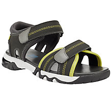 Buy John Lewis Children's Colour Block Rip-Tape Sandals, Blue Online at johnlewis.com