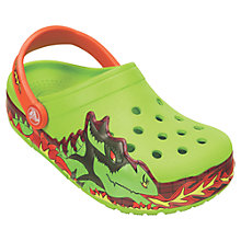 Buy Crocs Children's Fire Dragon Light-Up Clogs, Volt Green Online at johnlewis.com