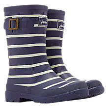 Buy Little Joule Striped Wellington Boots, French Navy Online at johnlewis.com