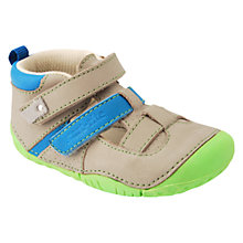 Buy Start-rite Baby Atoll Double Strap Shoes, Taupe Online at johnlewis.com
