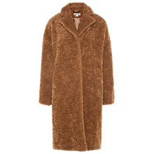 Buy Whistles Teddie Cocoon Coat, Camel Online at johnlewis.com