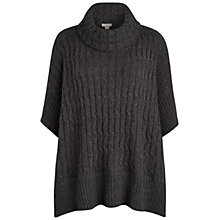 Buy Celuu Cable Knit Cape, Grey Online at johnlewis.com