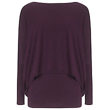 Buy Phase Eight Charley Crop Double Layer Jumper, Dark Wine Marl Online at johnlewis.com