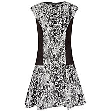 Buy Ted Baker Liri Snake Jacquard Skater Dress, Black Online at johnlewis.com