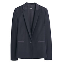 Buy Mango Cotton Blend Blazer, Black Online at johnlewis.com