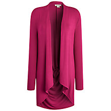 Buy Celuu Bella Drape Back Cardigan, Pink Online at johnlewis.com
